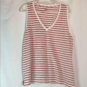 🆕Madewell Theresa V-neck Stripe Tank Top